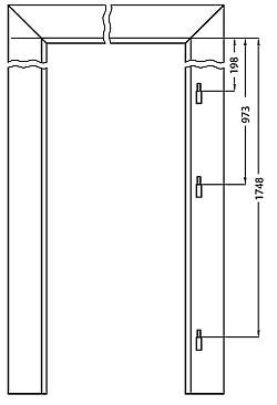 vodorovný řez zárubní top